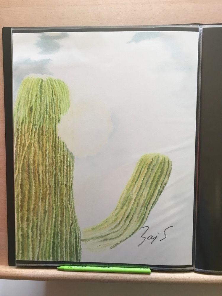 'Cactus' (2010) Began colored p - leapingbluehare | ello