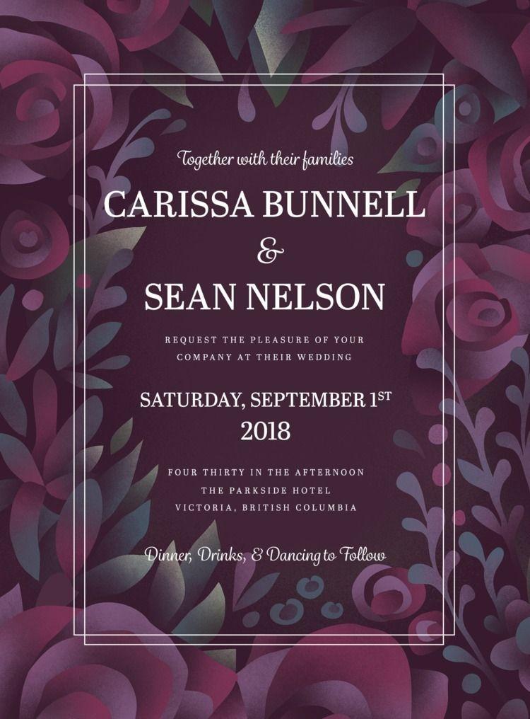 Floral illustration wedding inv - arenvandenburgh | ello
