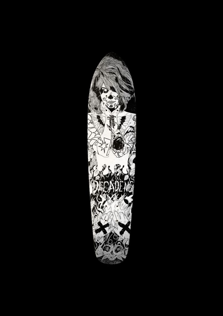 inspired skate deck design. Ori - justblack | ello