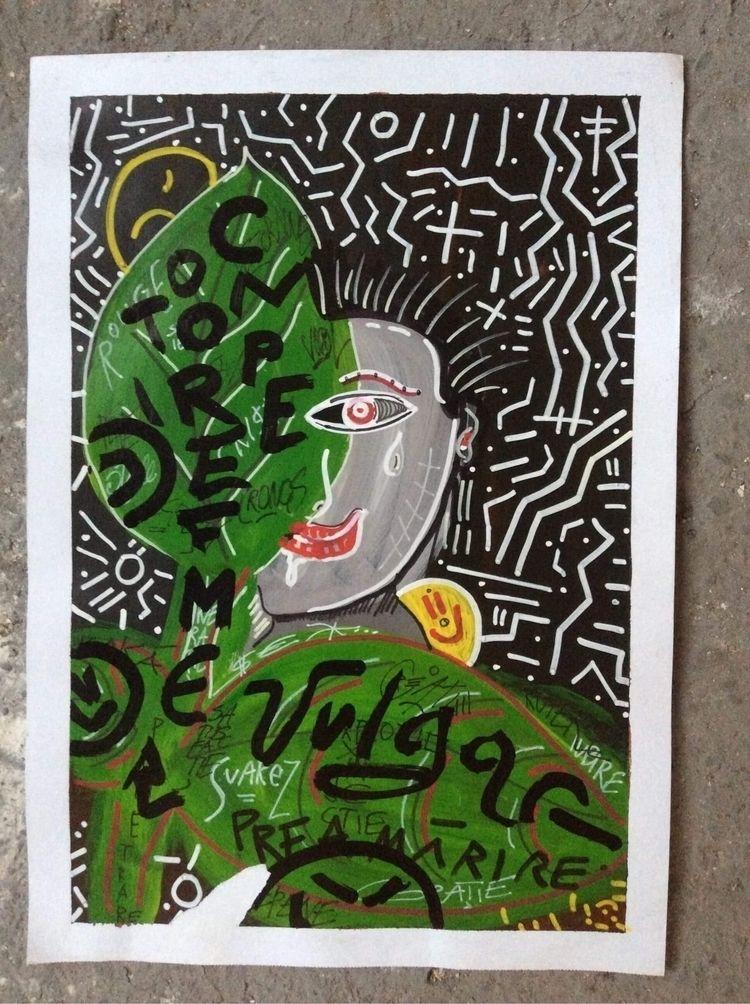 Rouge Vulgar - drawing, mixedmedia - dongiapo   ello