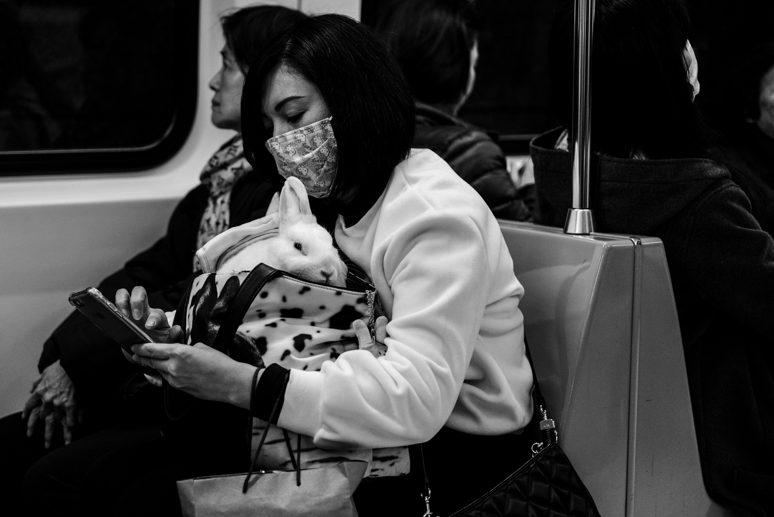 Taipei Metro riders. bunny ride - johnnyg_photography | ello