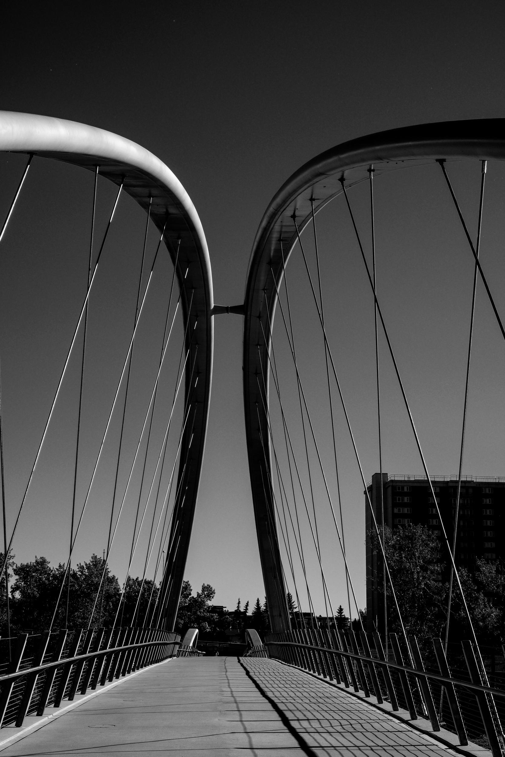 Pedestrian bridge Bow River, Ca - johnnyg_photography | ello