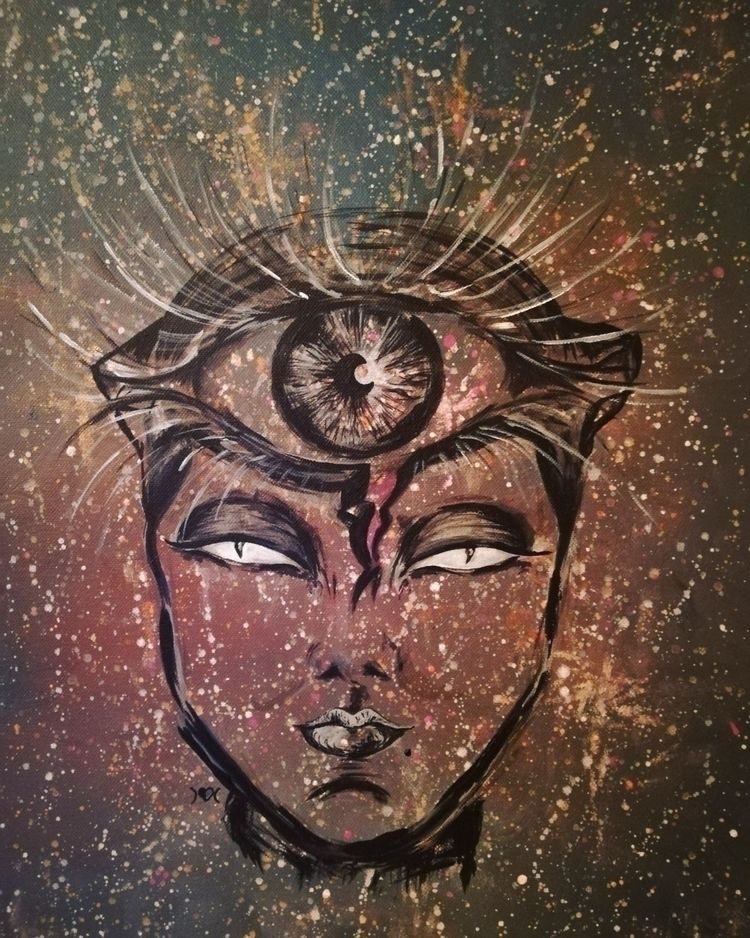 awaken aware - acrylicpainting - astrabee | ello