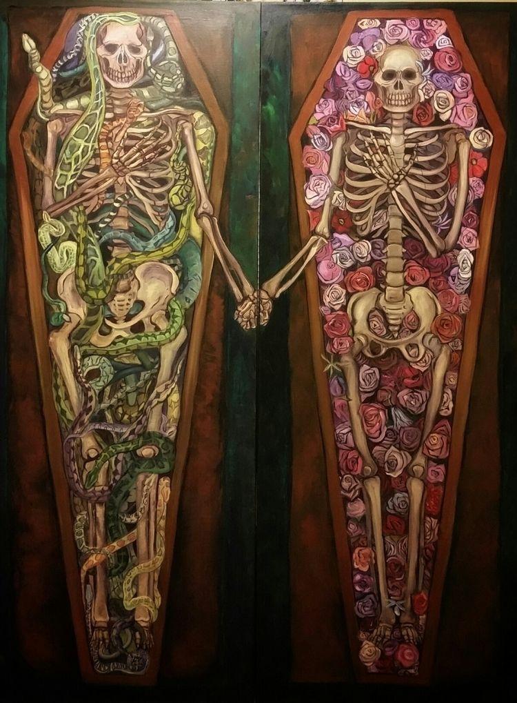 Death, 2018, acrylic canvas. lo - ivy_artistic_chaos | ello