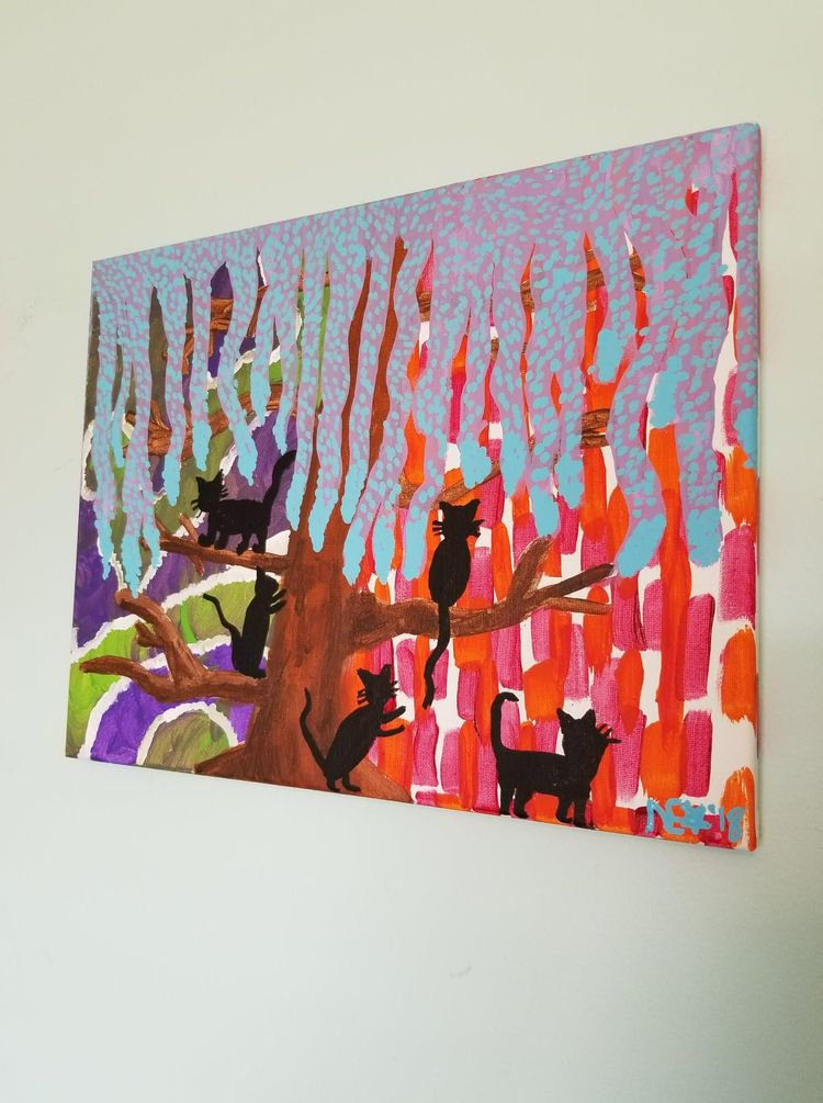 11x14 - acrylic, gallerywrapped - ohboyflamingsoy | ello