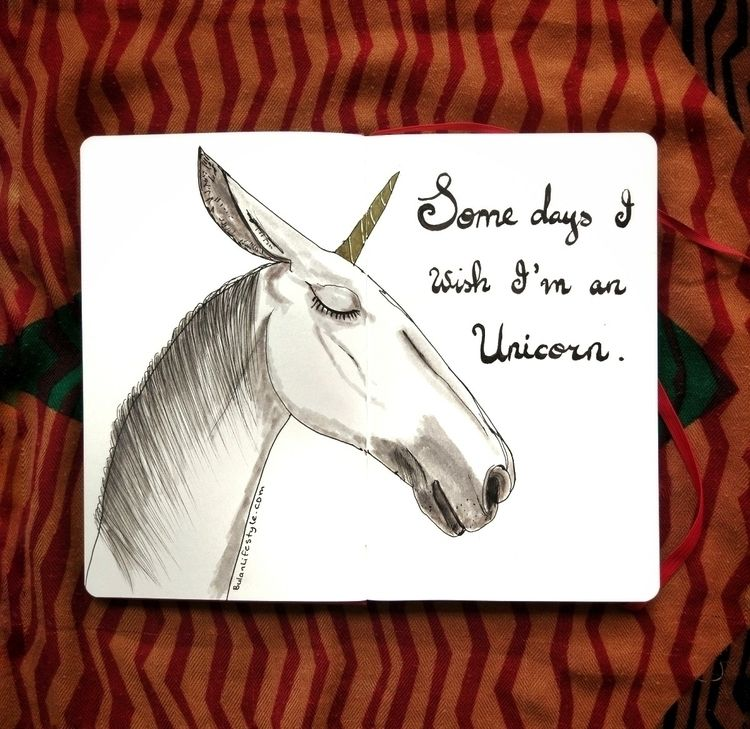 days unicorn Sketch day 1196 mo - bulanlifestyle | ello