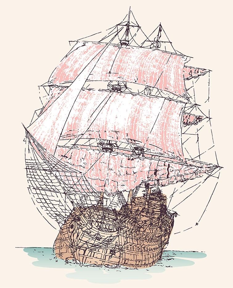 masted tall ship, exploring wor - grabbo | ello