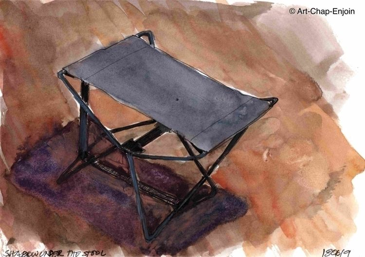 770 - Shadow stool sketch Doodl - artchapenjoin | ello