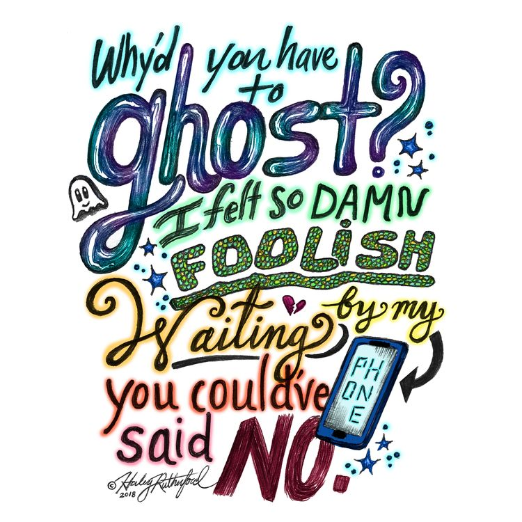 Lyric artwork Ghost Frankie Sco - artist_haley | ello
