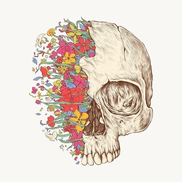 Beauty Death - illustration - normanduenas | ello