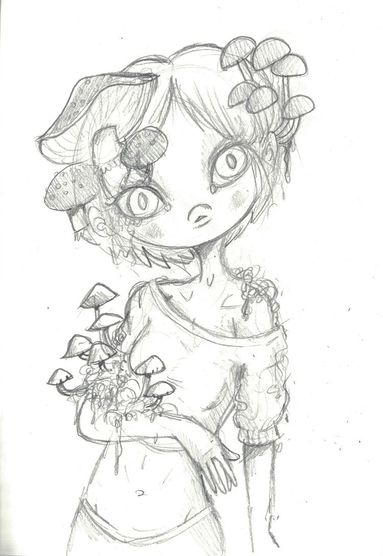 Shroom share pencil sketch! tod - smushbox | ello