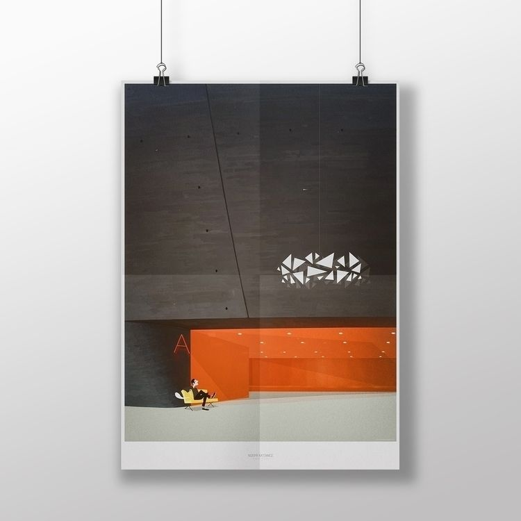 Architectural poster. NOSPR Kat - piotrzybura | ello