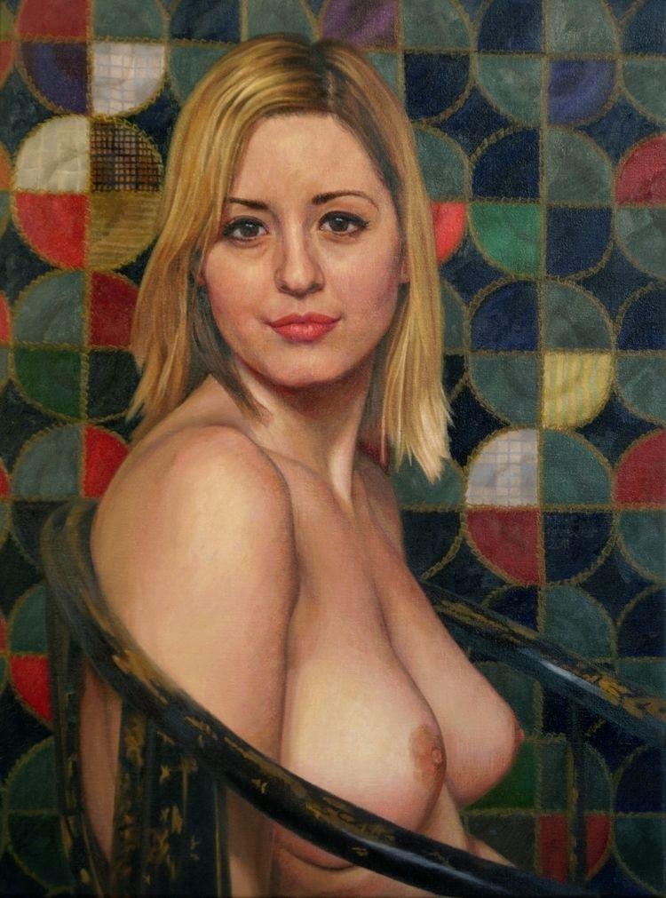 Oil linen, 24x18 inches - figurativeart - mikebrewerart | ello