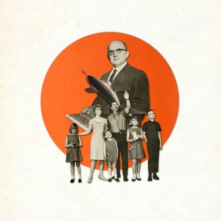 Nuclear Family Digital Collage - keysgoclick | ello