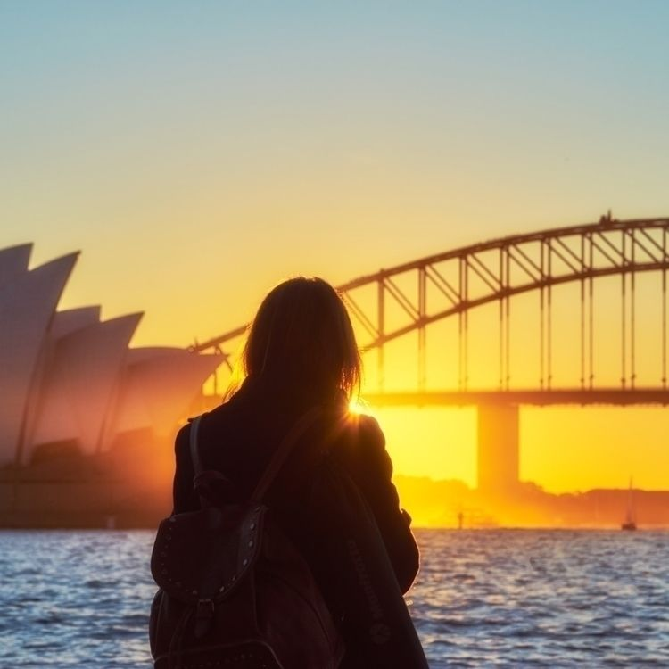 Sydney Harbour sunset - ellophotography - solarfractal | ello