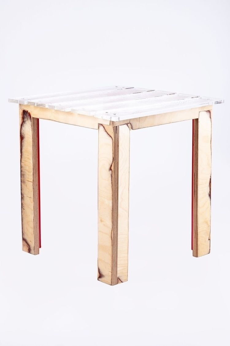 table, sidetable, handmade, fauxwood - brickandbridge | ello