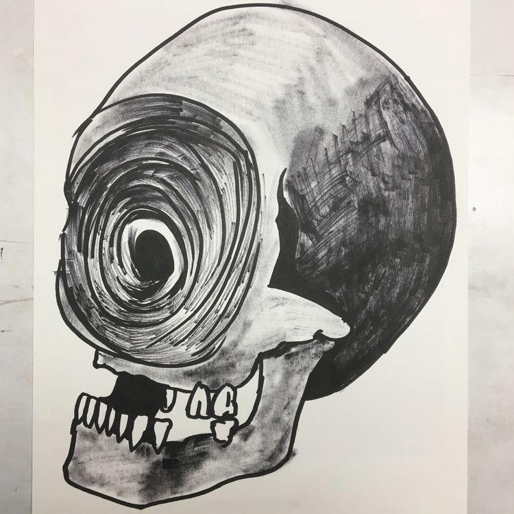 Whirlpool face - skull - skulldrawing - donorbrain | ello