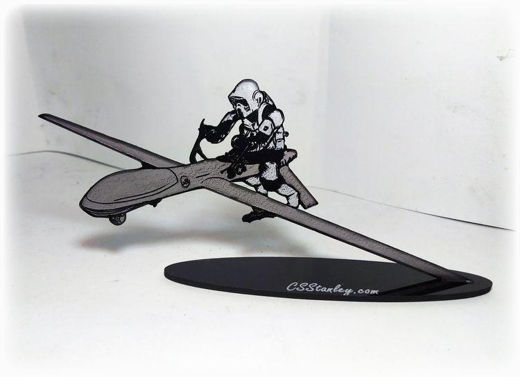 Attack Drones painted cut acryl - csstanley | ello