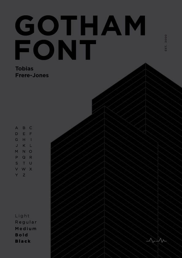 Poster design Gotham font - am_arts | ello