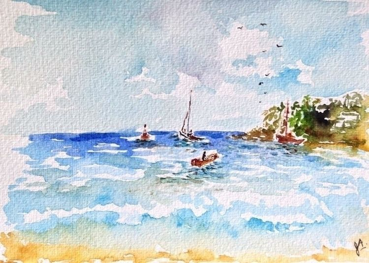 Chacala, Nayarit - watercolor, sketch - julietprochet | ello