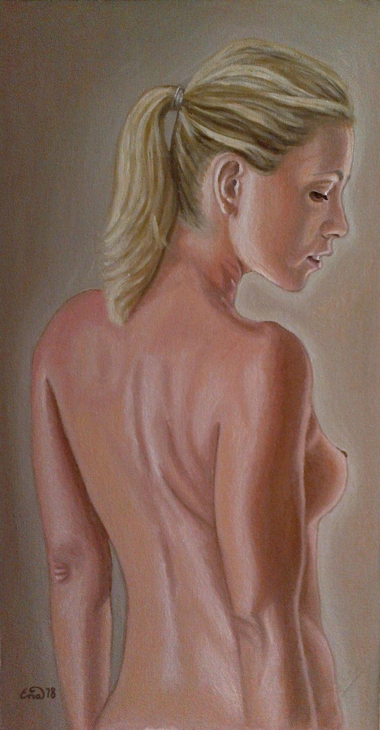 Oil canvas SALE - nudepainting, portrait - enavarsavikova | ello