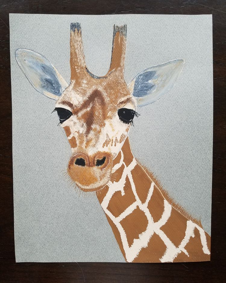 love Giraffes.. painted - painting - natureisfree | ello