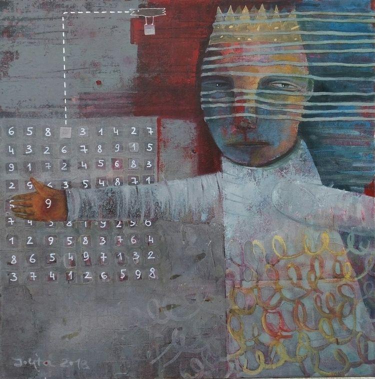 9 (sudoku) 2018 canvas acrylic  - jolitacc | ello