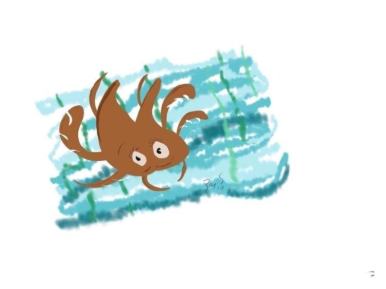 'Underwater' (2018) Quick doodl - leapingbluehare | ello