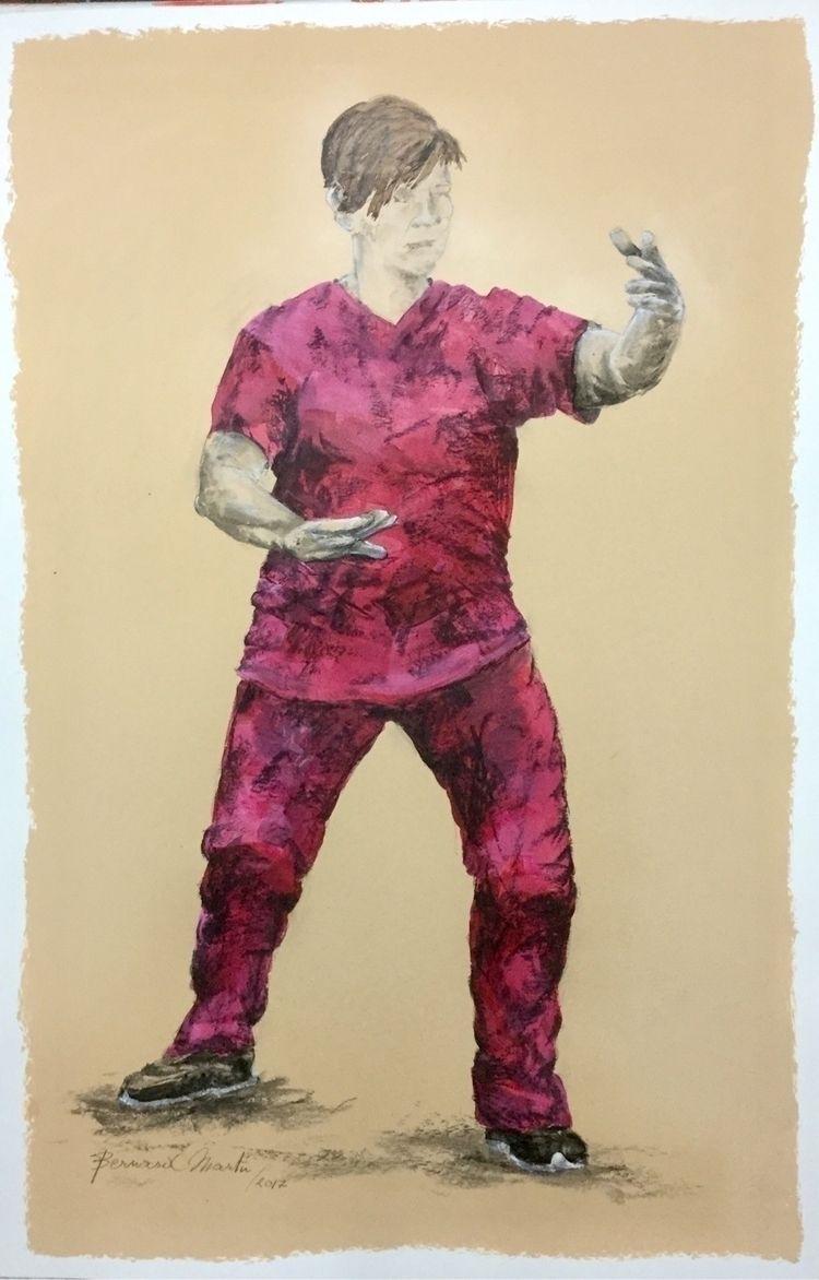 Tai Chi 2. 2017 Acryl en houtsk - ben-peeters | ello
