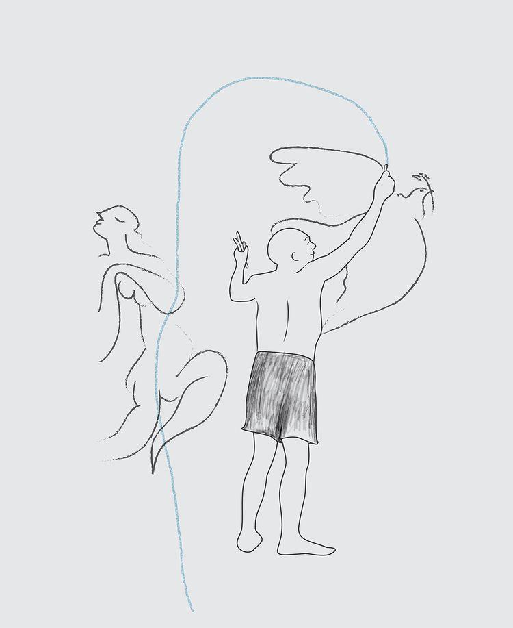 Le portrait de Pablo - illustration - valeryl   ello