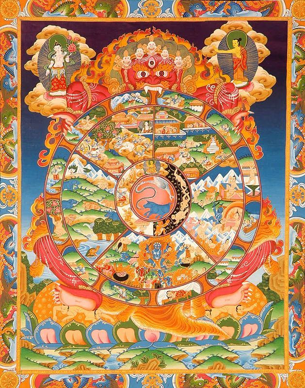 center Tibetan Wheel Life, pig - tvansantana   ello