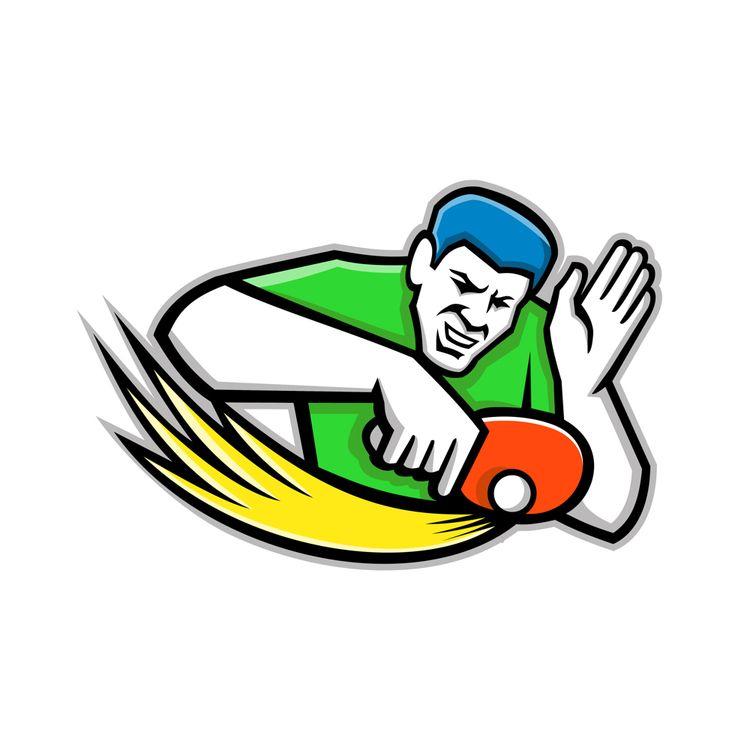 Table Tennis Player Blocking Ma - patrimonio | ello