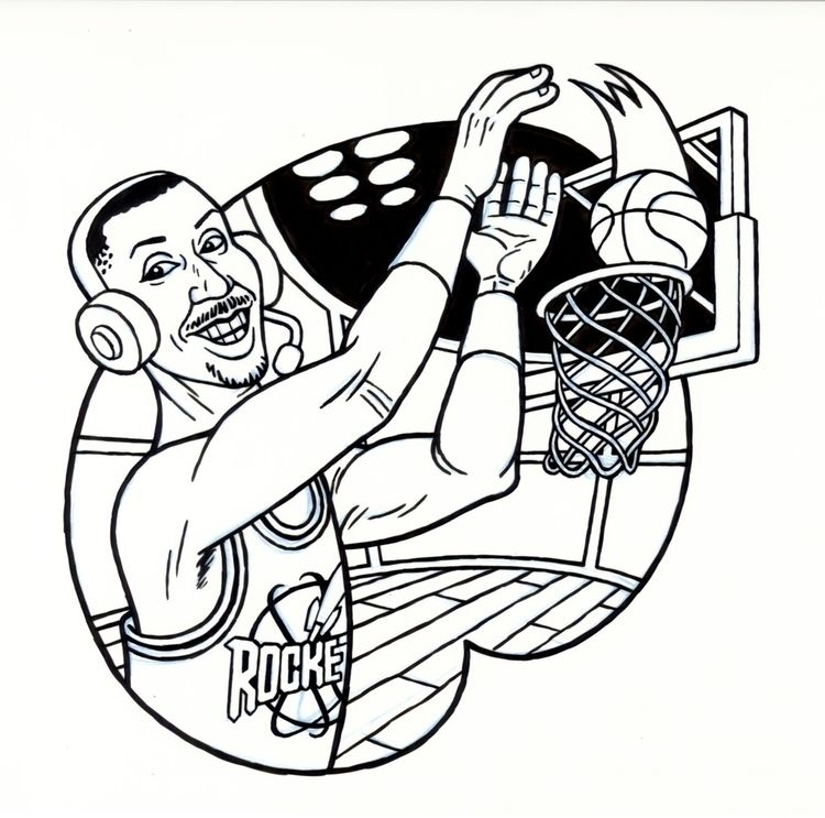 Eddie Johnson, illo NBA STUFF,  - dannyhellman | ello