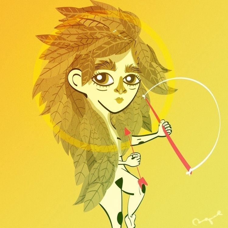 Golden Goddess - Illustration - adrianaduque   ello
