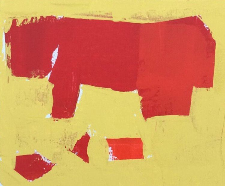 """Red Cow Left"" Acrylic 11"" 14""  - coastcnc 