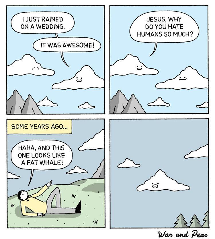 Clouds feelings - comic, webcomic - warandpeas | ello