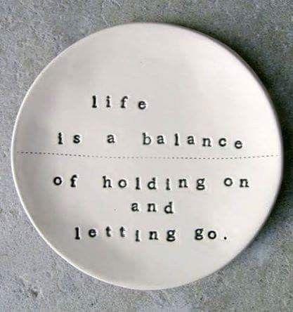 Life Balance ... Holding Lettin - dare2bare | ello