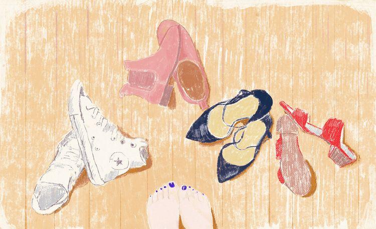 shoes - illustration, mixedmedia - zoe_vadim | ello