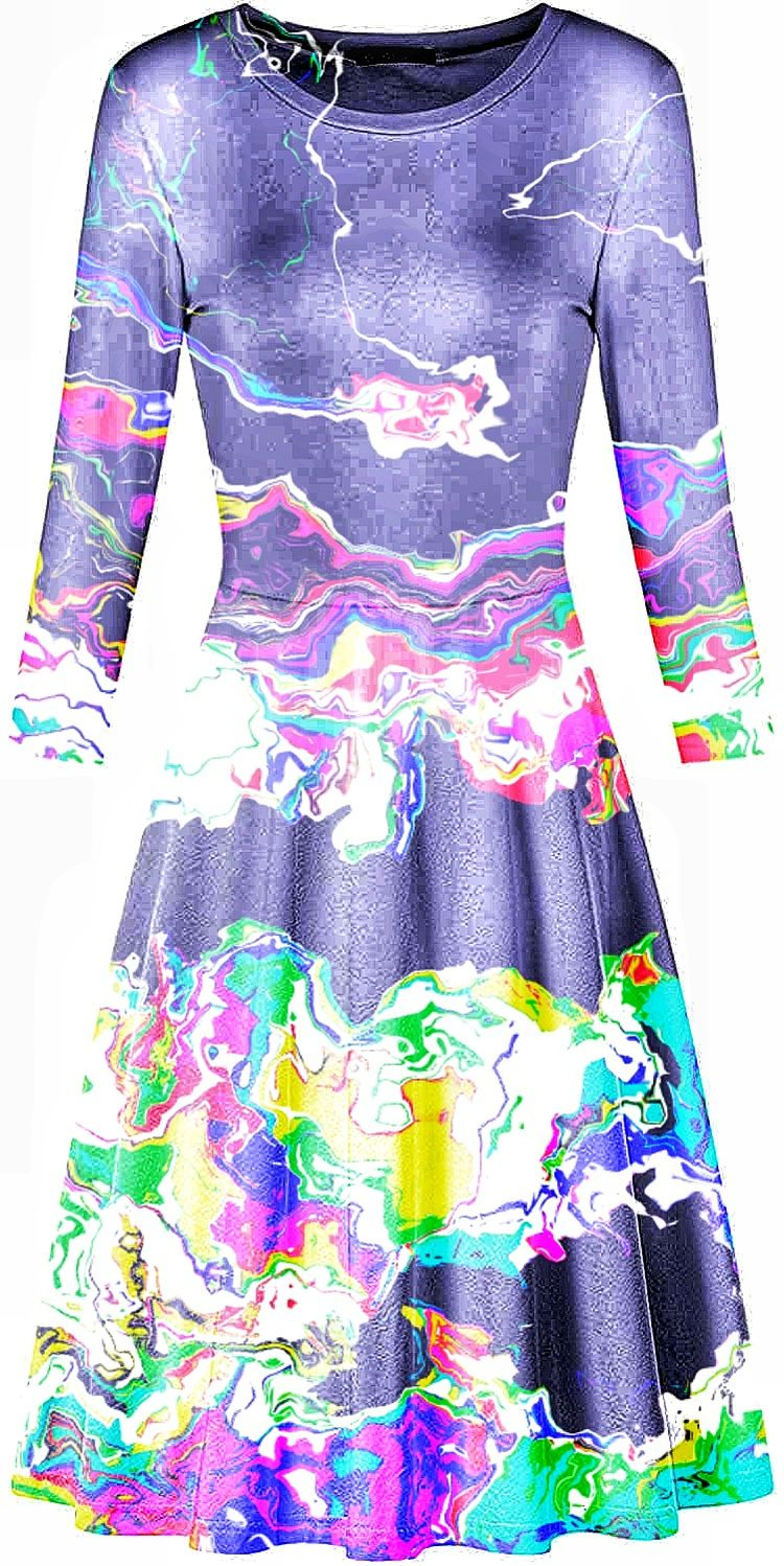 Scratchation Sundress Mock  - glitchart - deliterate | ello