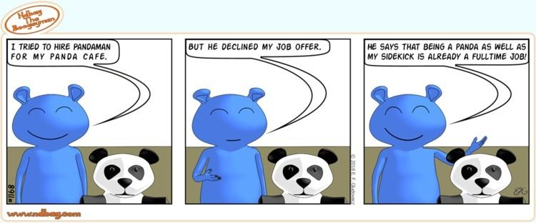 happening cafe - panda, comics - ndbag | ello