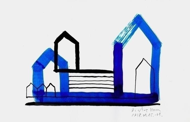Blue Black Houses January 16, 2 - istvanocztos | ello