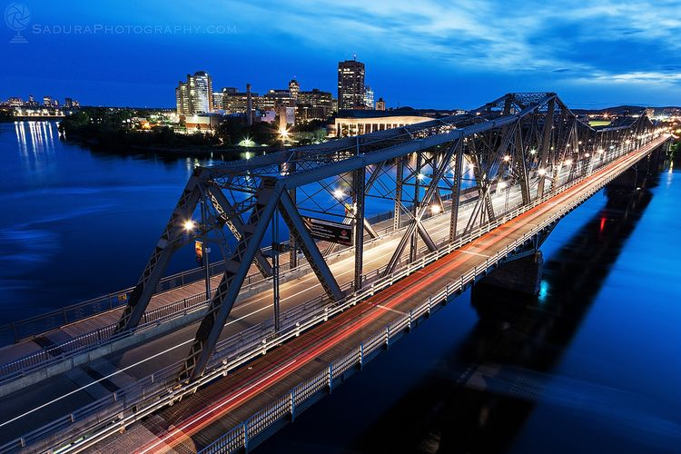Alexandra Bridge night Ottawa,  - hsphotos | ello