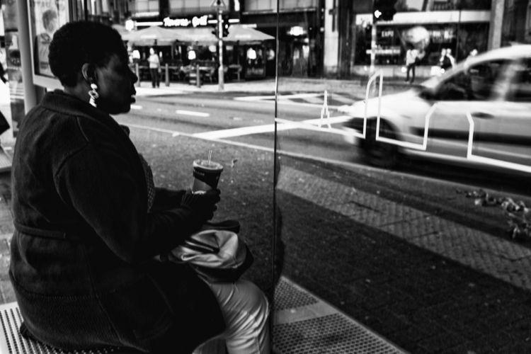 bus stop - blackandwhite, bnw, citylife - jzspics   ello
