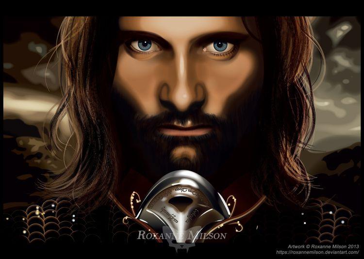 Aragorn Roxanne Milson, 2013 Ar - roxannemilsonart | ello