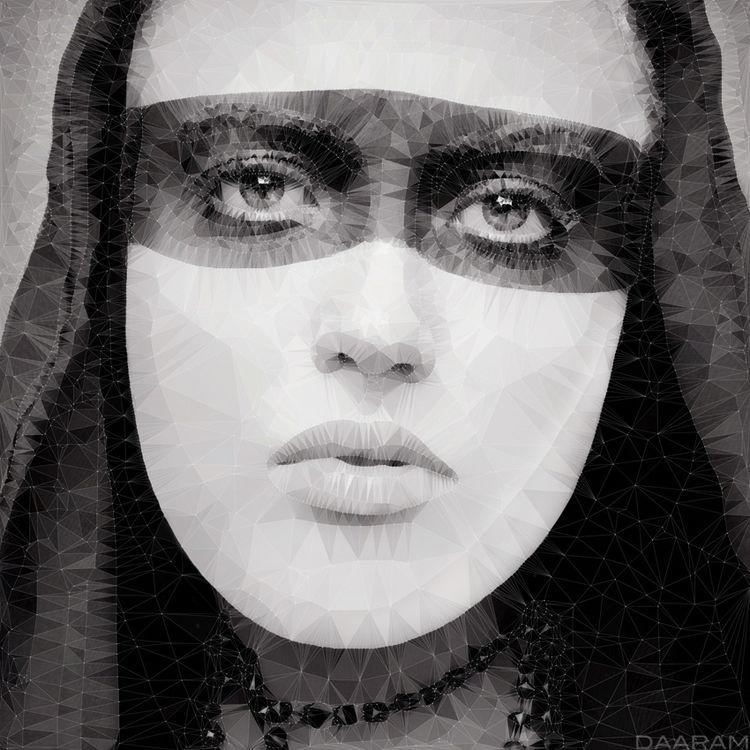 Portrait blindfold PolyArt: Gra - daaram-fashion | ello