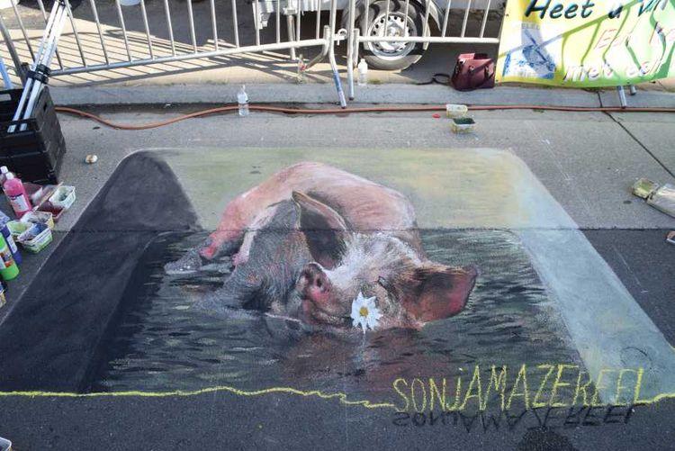 streetpainting, chalkart, 3D - sonjamazereel | ello