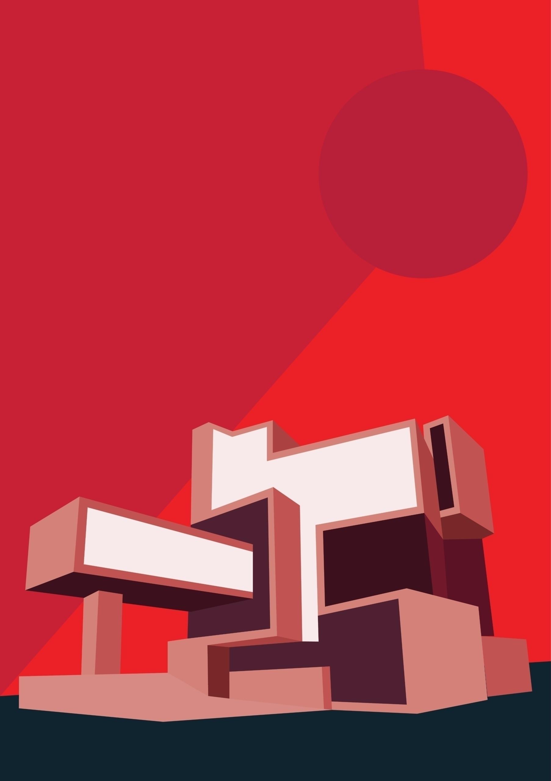 Red Architecture 2018 Print sal - martinaa | ello