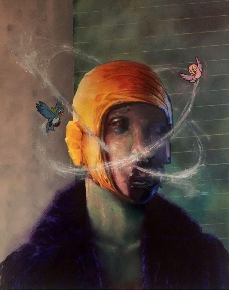 Allelopathy study Oil canvas 80 - antikreativ | ello