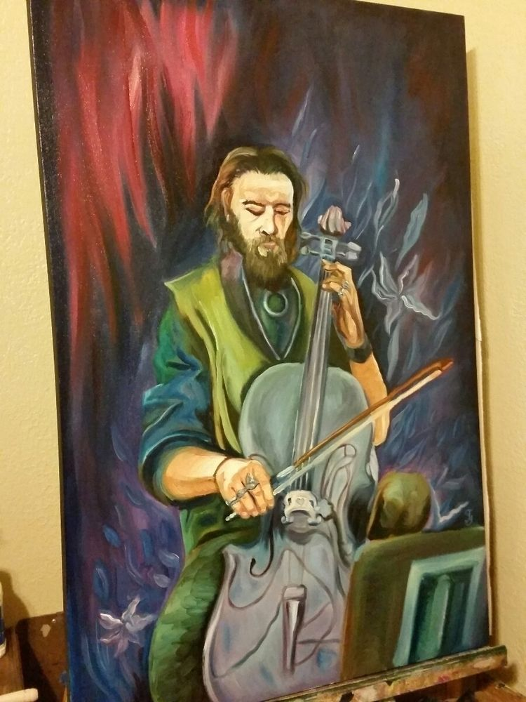 Painting fellow handsome playin - ivy_artistic_chaos | ello