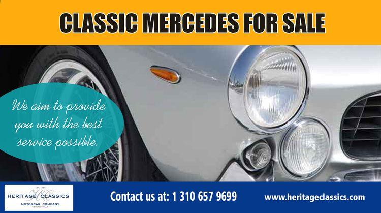 classic mercedes sale | Benefit - consignclassiccar | ello